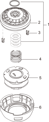 Easy Load Tap-N-Go Trimmer Head WB-1215 Drawing