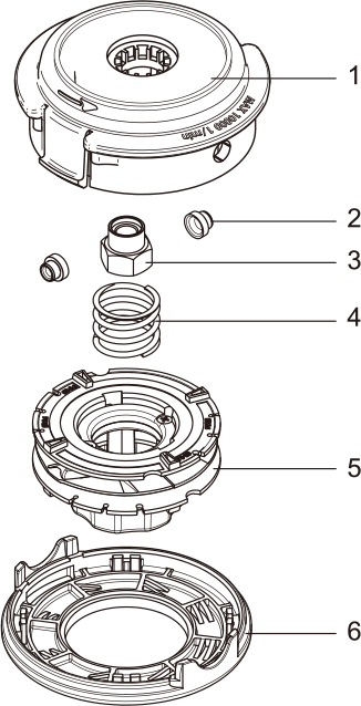 Easy Load Tap-N-Go Trimmer Head WB-1237 Drawing