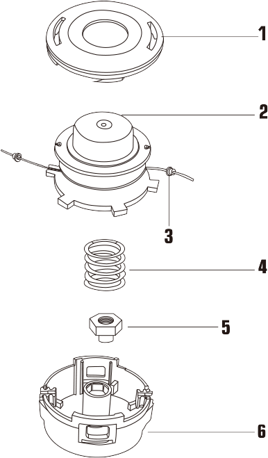 Tap-N-Go Trimmer Head WB-1209 Drawing