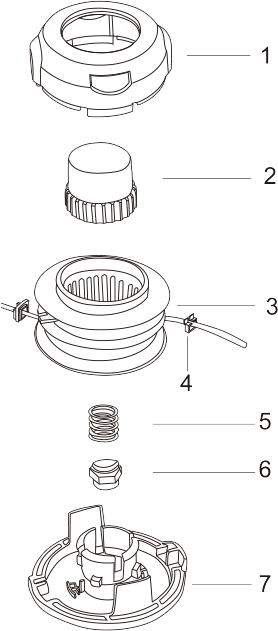 Tap-N-Go Trimmer Head WB-1240 Drawing