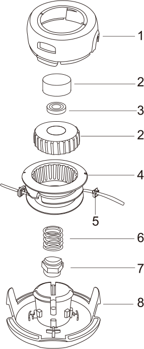 Tap-N-Go Trimmer Head WB-1248 Drawing