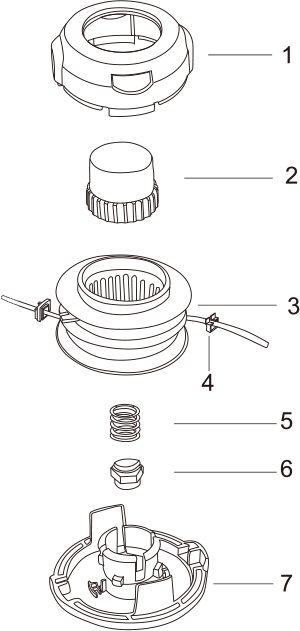 Tap-N-Go Trimmer Head WB-2240 Drawing